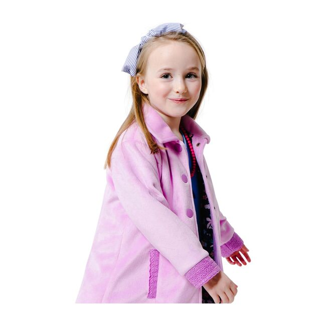 Lightweight Party Coat with Eyelet, Lilac