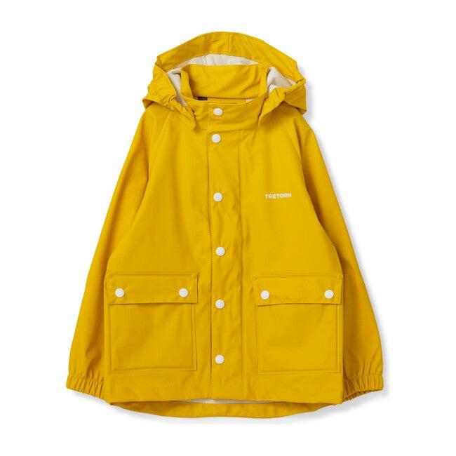 Kids Wings Raincoat, Spectra Yellow - Raincoats - 1