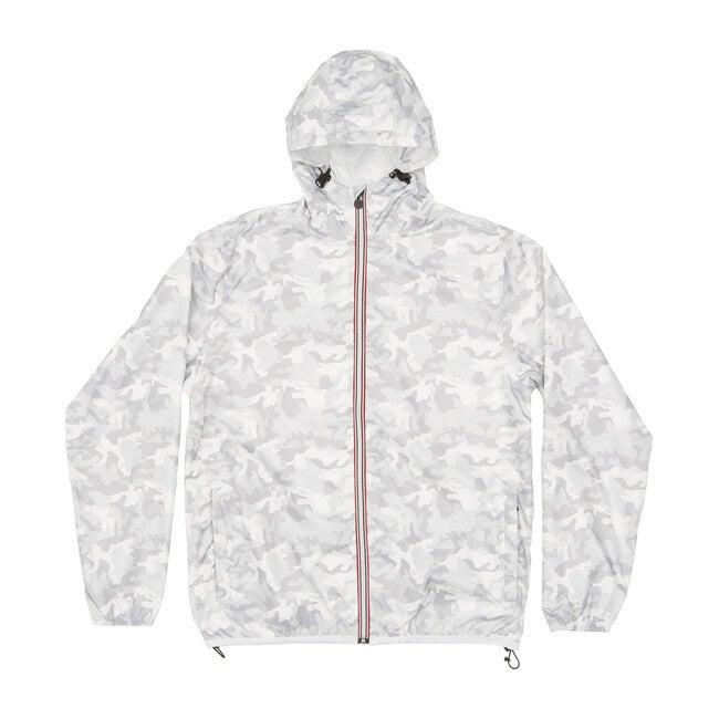 Women's Sloane Print Packable Rain Jacket, White Camo