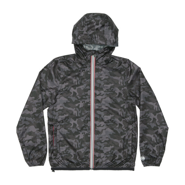 Women's Sloane Print Packable Rain Jacket, Black Camo