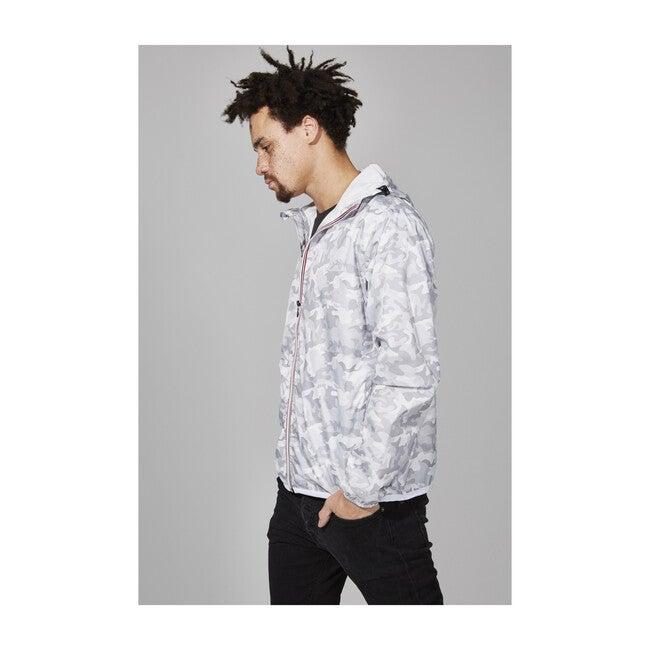 Men's Max Print Packable Rain Jacket, White Camo