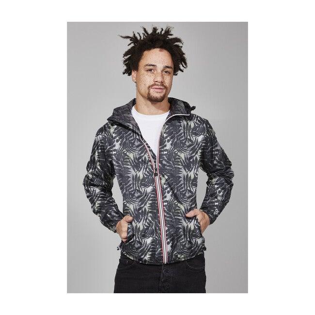Men's Max Print Packable Rain Jacket, Palm Print