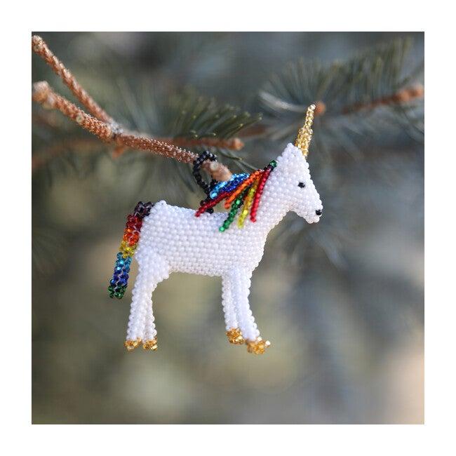 Beaded Unicorn Ornament