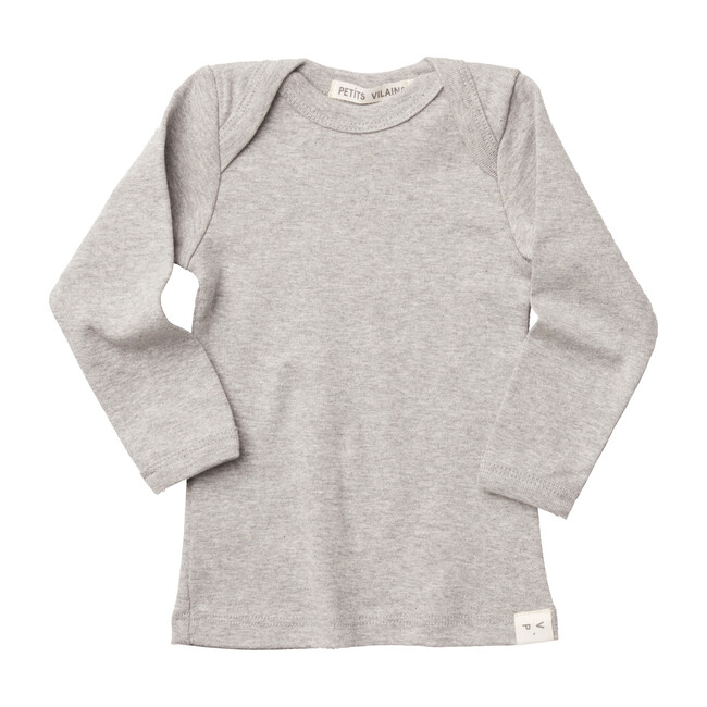 Lilou Envelope Tee, Heather Grey
