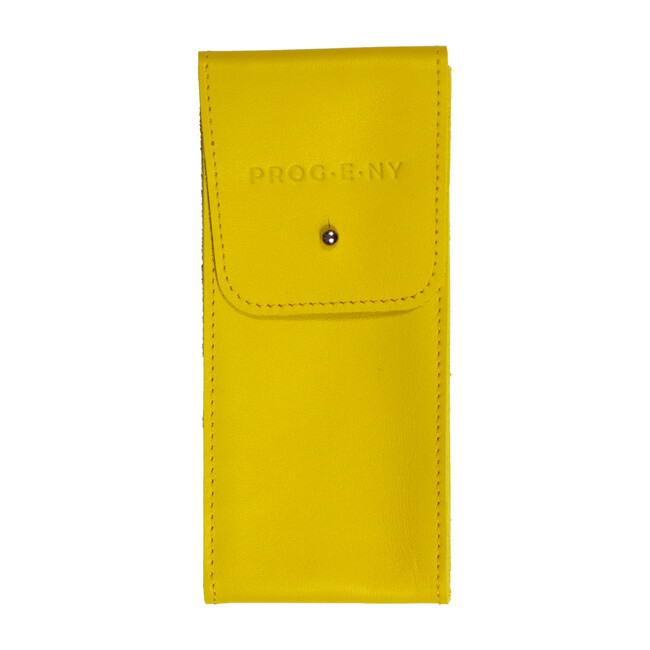 Leather Pouch, Yellow