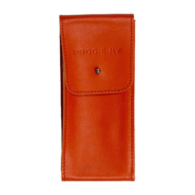 Leather Pouch, Orange