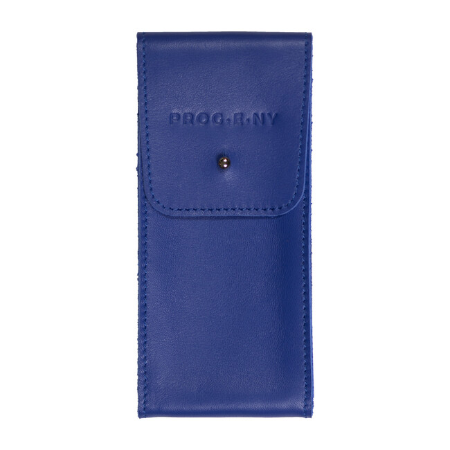 Leather Pouch, Blue
