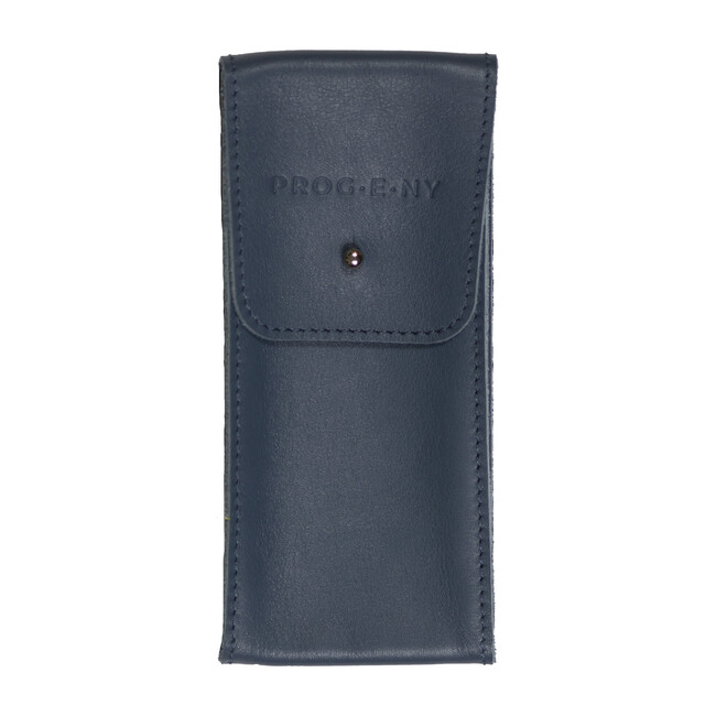 Leather Pouch, Navy