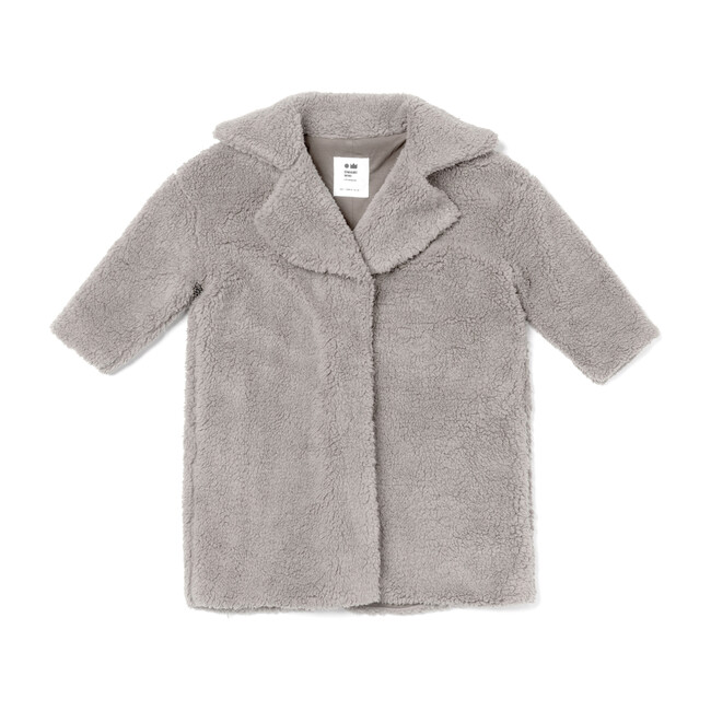 Faux Sherpa Coat, Grey