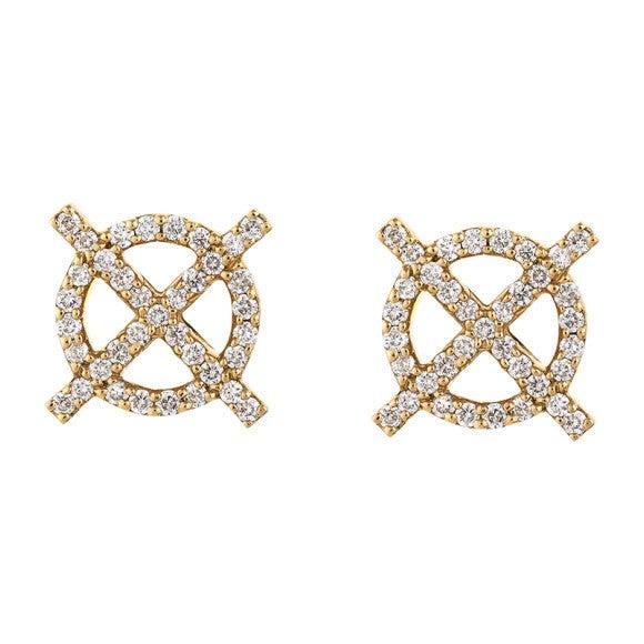 Diamond XO Studs