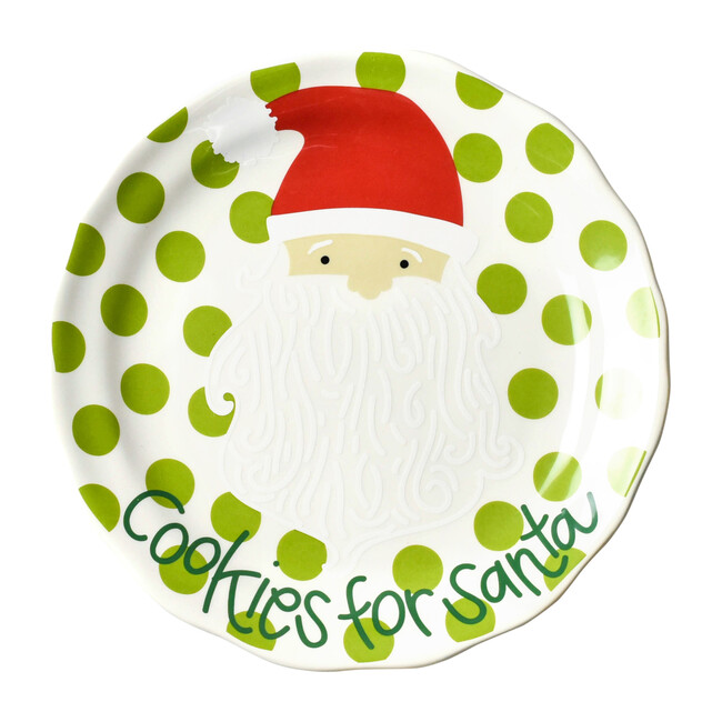 Cookies For Santa Plate, Green Dot