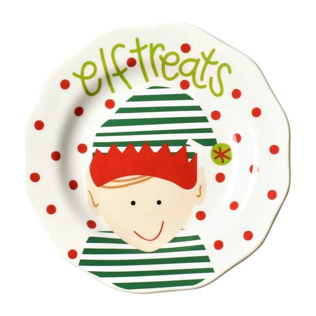 Elf Treats Plate, Red Dot