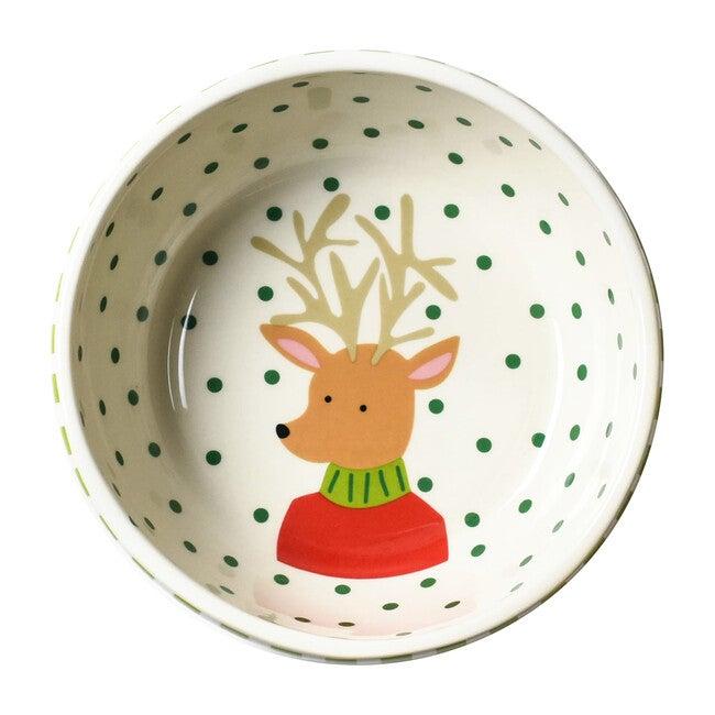Reindeer Food Bowl, Green Stripe