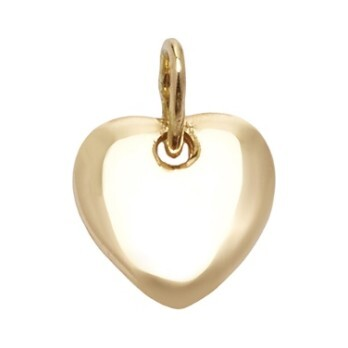 14k Gold Little Heart Charm String Bracelet