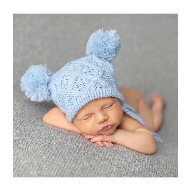 Quinn Cable Hat, Blue