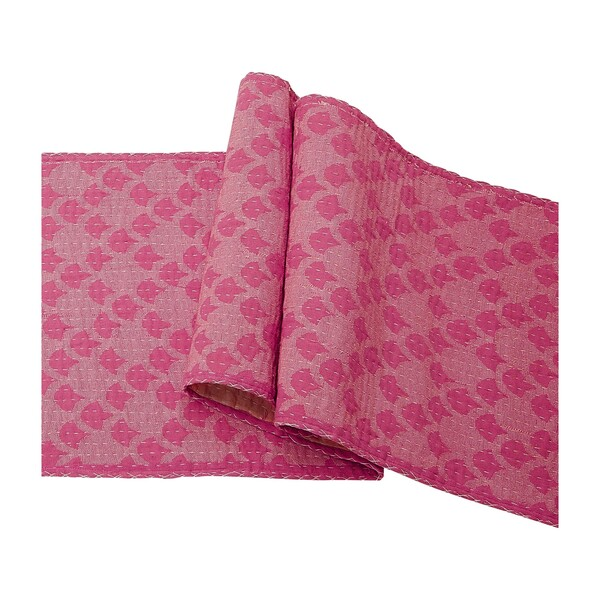 Cotton Table Runner, Pink Ginkgo