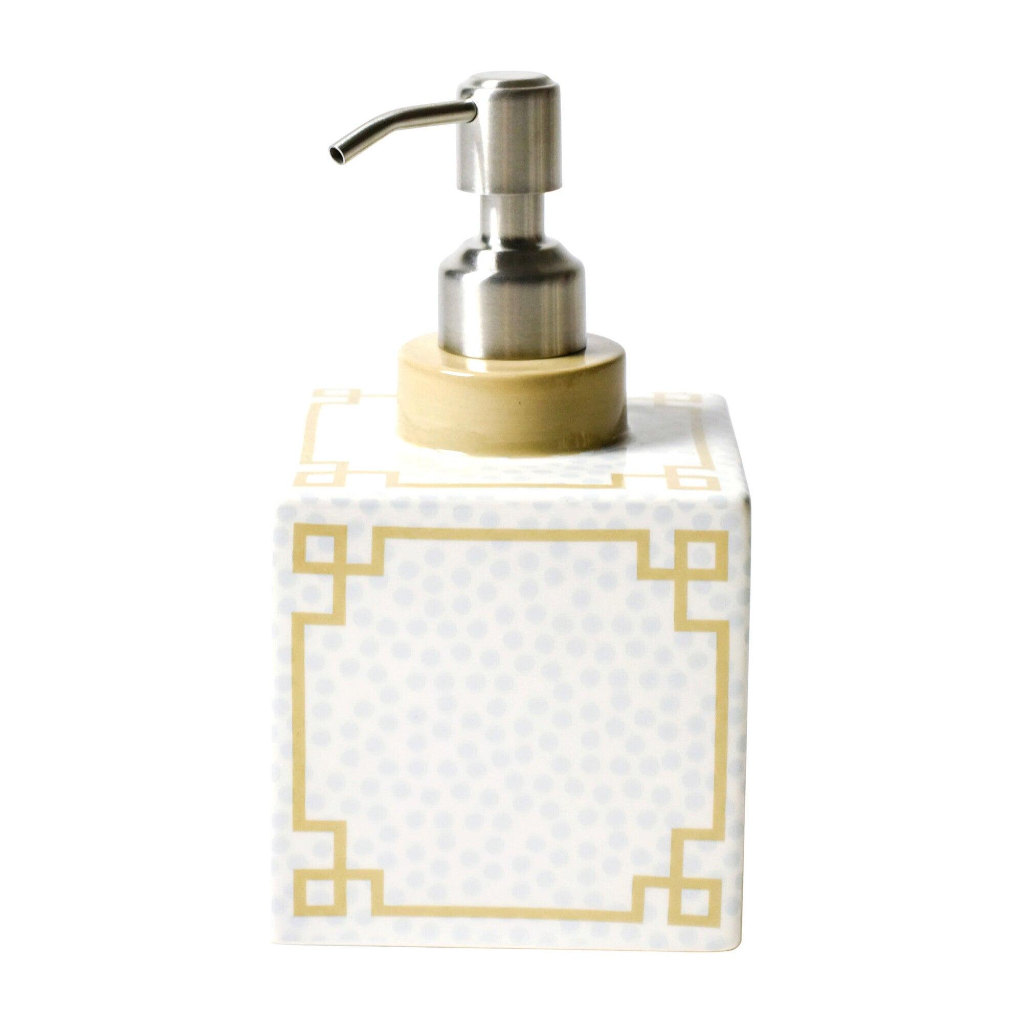 Square Soap Pump, Smoke Small Dot