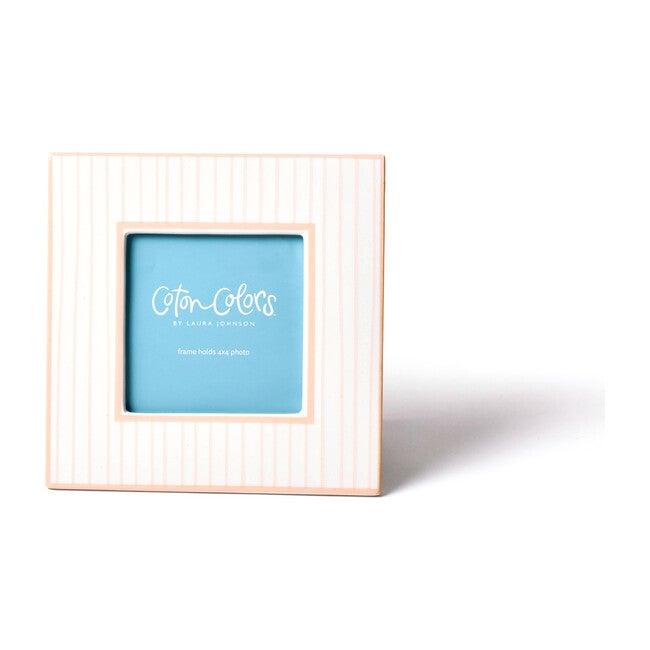 Stripe Mini Square Frame, Blush
