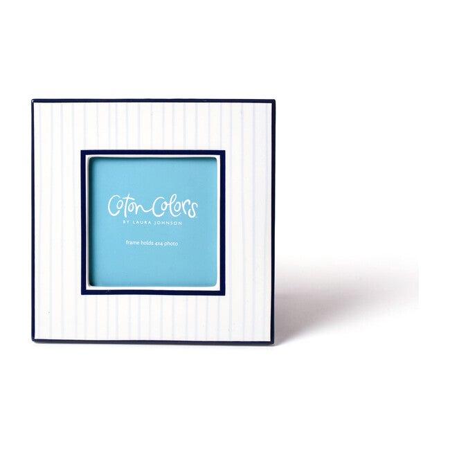 Stripe Mini Square Frame, Blue