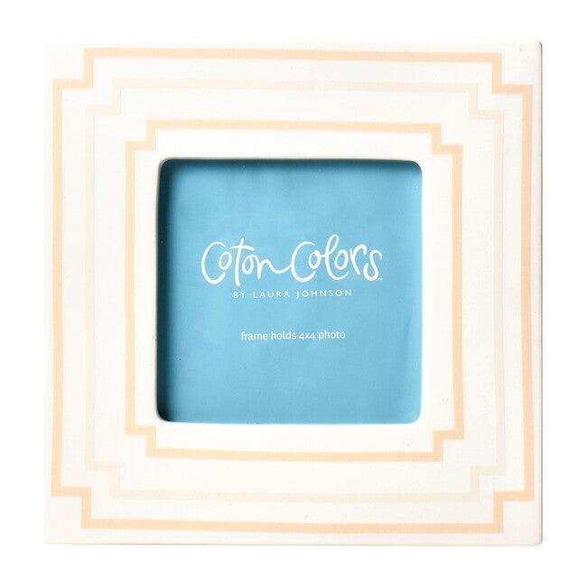 Mini Square Frame, Blush/Ivory Stripe