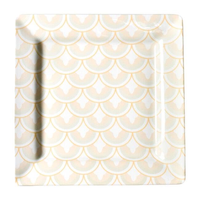 Layered Arabesque Square Platter, Blush