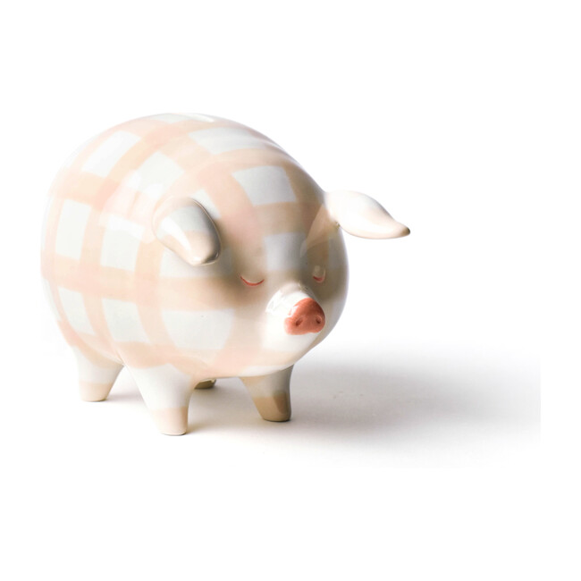 Piggy Bank, Blush Gingham