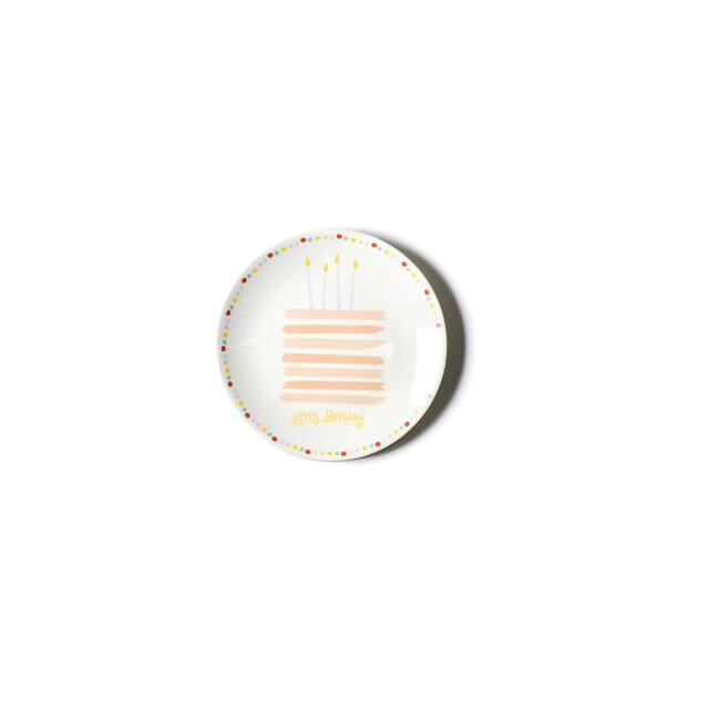 Happy Birthday Cake Plate, Blush