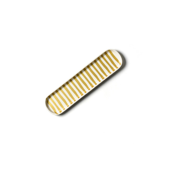 Scoop Oval Tray, Gold Stripe - Accents - 1