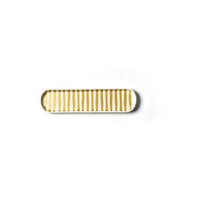 Scoop Oval Tray, Gold Stripe