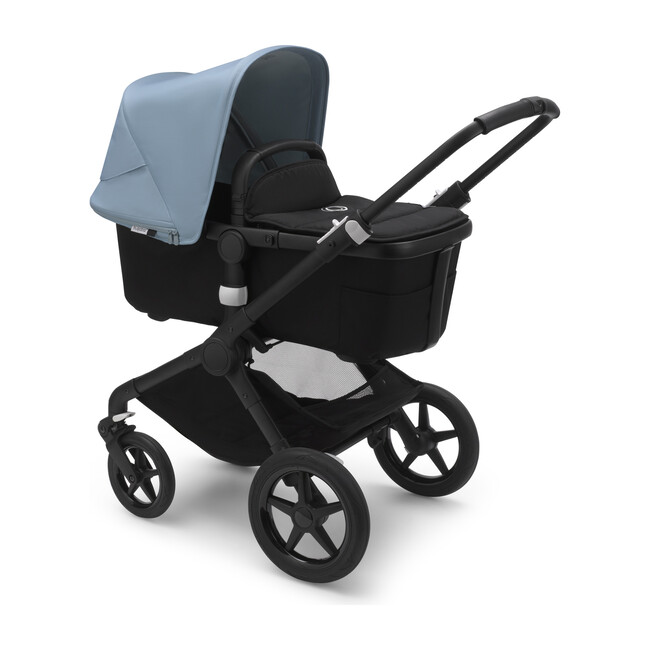Bugaboo Fox2 Complete, Black Base & Black Seat with Blue Canopy