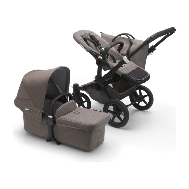 Bugaboo Donkey3 Mineral Mono Complete, Black Base & Mineral Taupe Fabrics