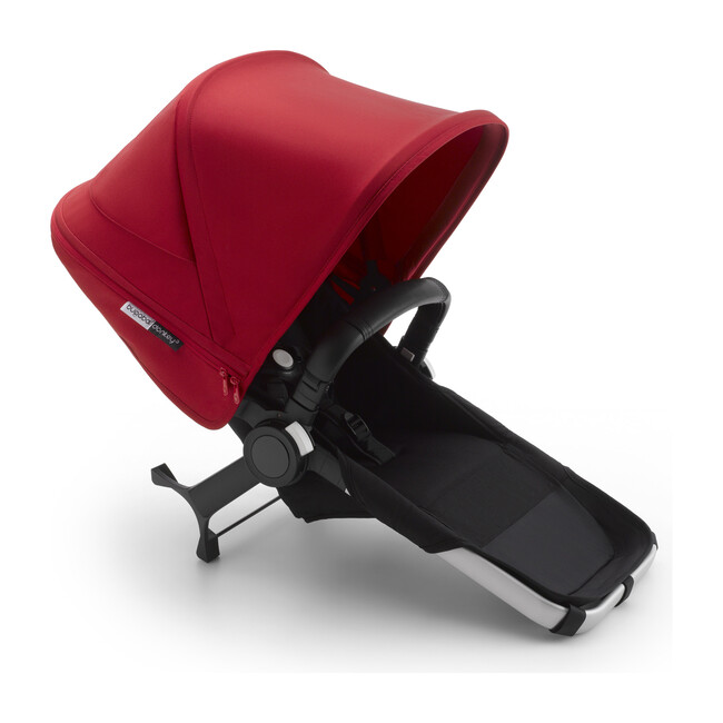 Bugaboo Donkey3 Duo Extension Set Complete, Aluminum Base & Red Canopy