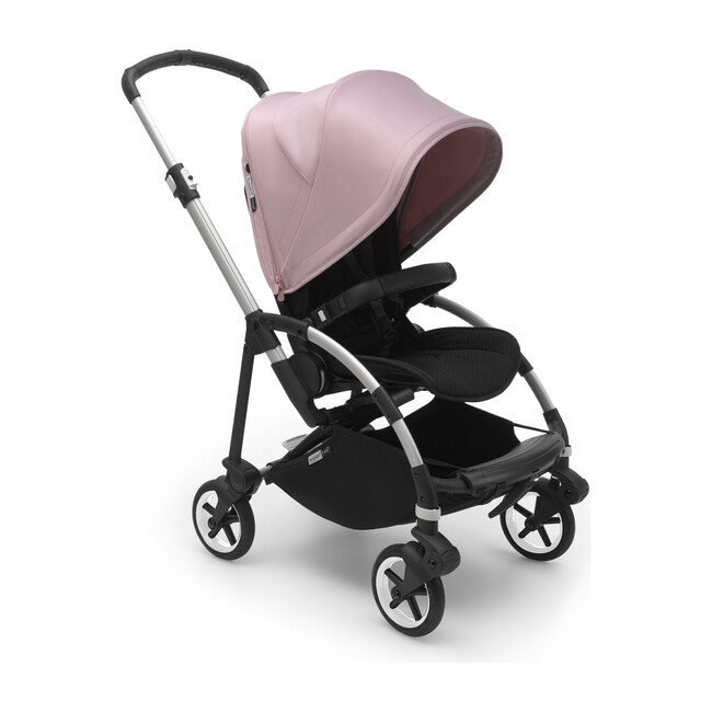 Bugaboo Bee6 Complete, Aluminum Base & Soft Pink Canopy
