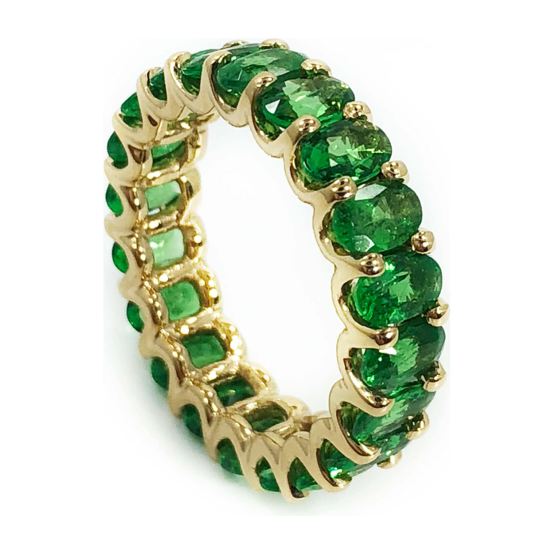 Tsavorite Garnet Eternity Ring