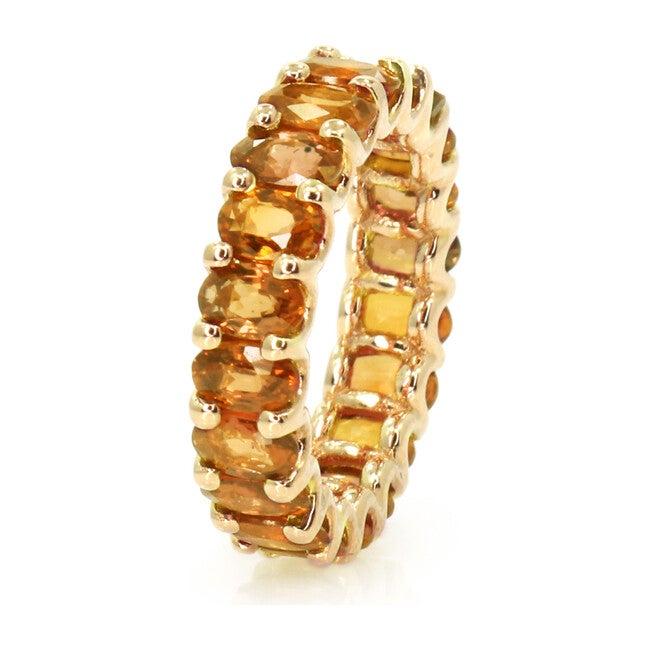 Orange Sapphires Eternity Ring