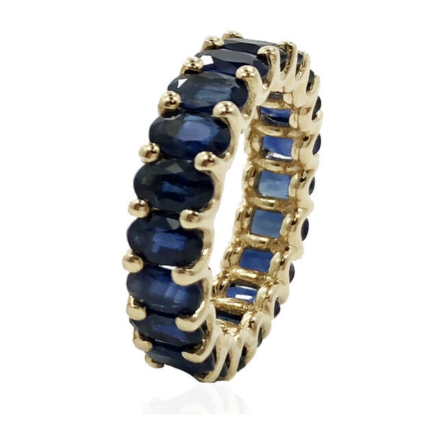 Blue Sapphires Eternity Ring 18kt Solid Gold