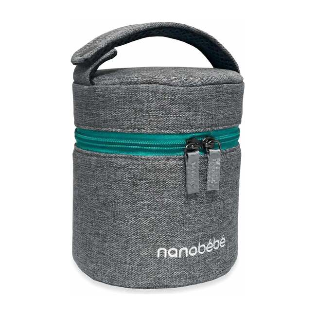 Baby Bottle Travel Cooler and Ice Pack, Grey