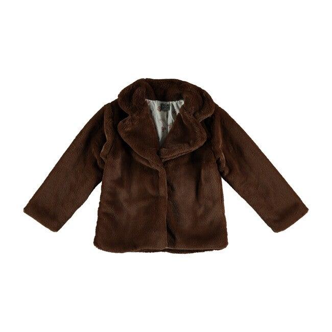 Faux Fur Jacket, Brown