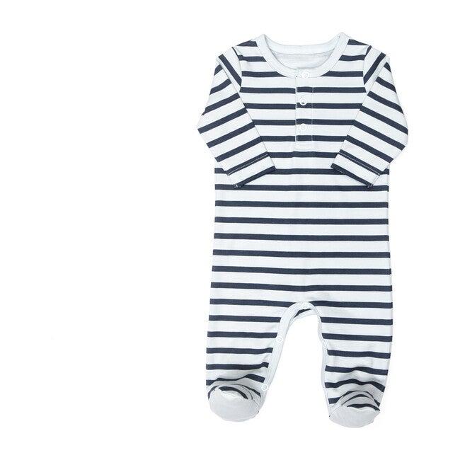 Stripes Footie, Blue