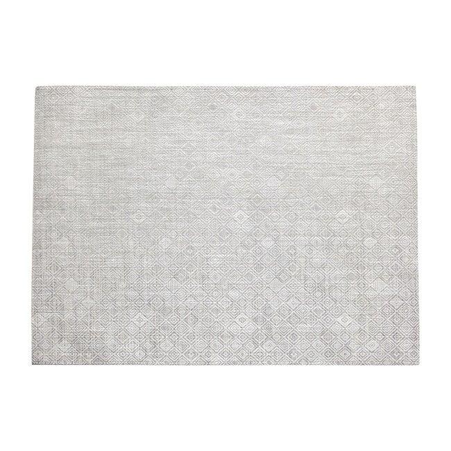 Mosaic Floor Mat, Grey