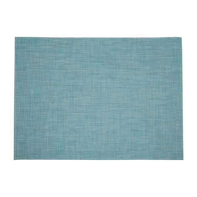 Mini Basketweave Floor Mat, Turquoise