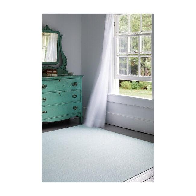 Mini Basketweave Floor Mat, Sky