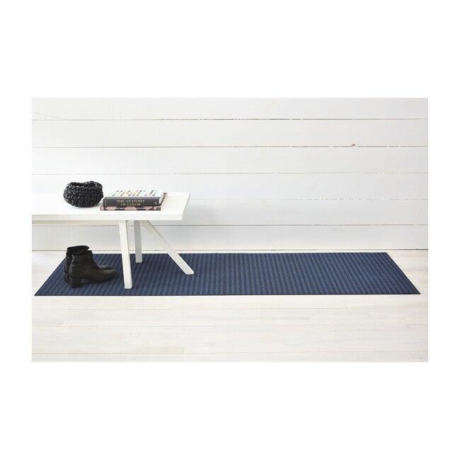 Breton Stripe Shag Floor Mat, Blueberry