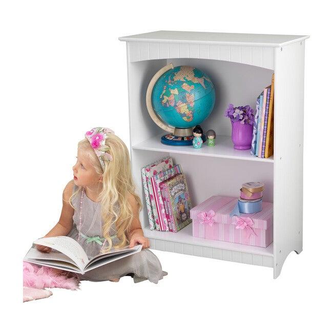 Nantucket 2-Shelf Bookcase, White