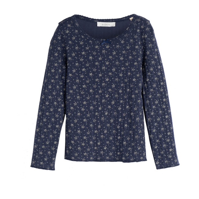 Octave Tee, Navy Windswept Floral