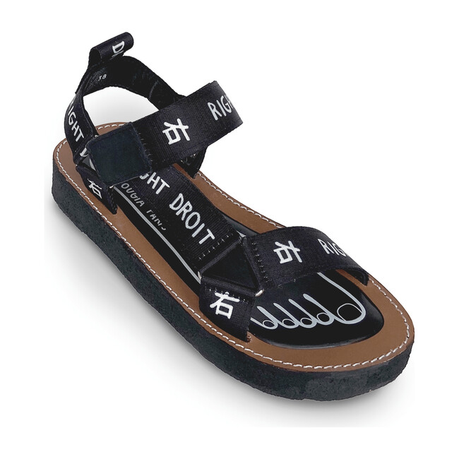 Adult Walkie Talkie Sandal, Black & White