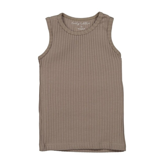Ribbed Tank, Taupe