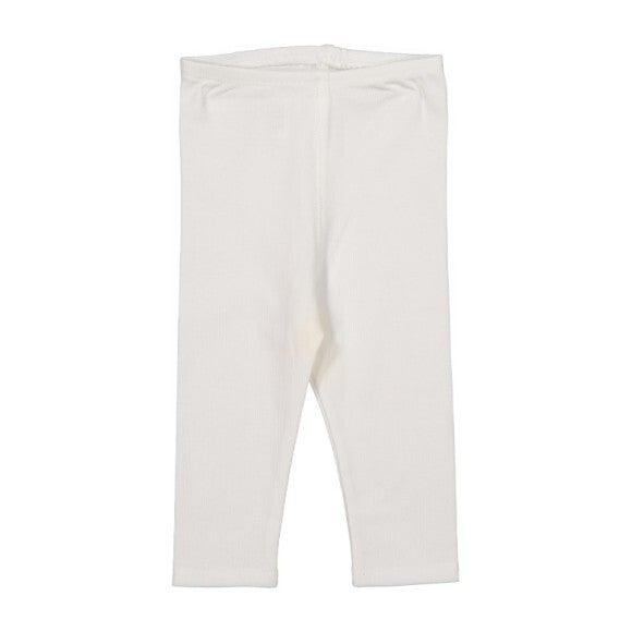 Cotton Leggings, White