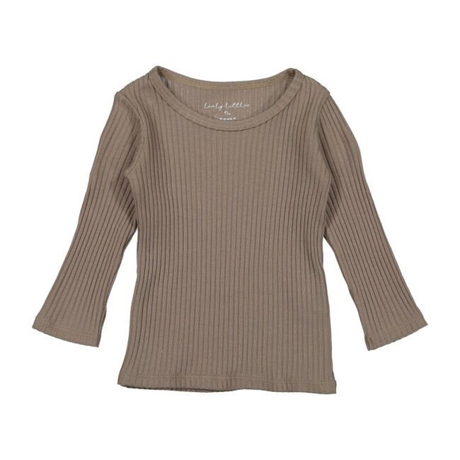 Ribbed Tee, Taupe
