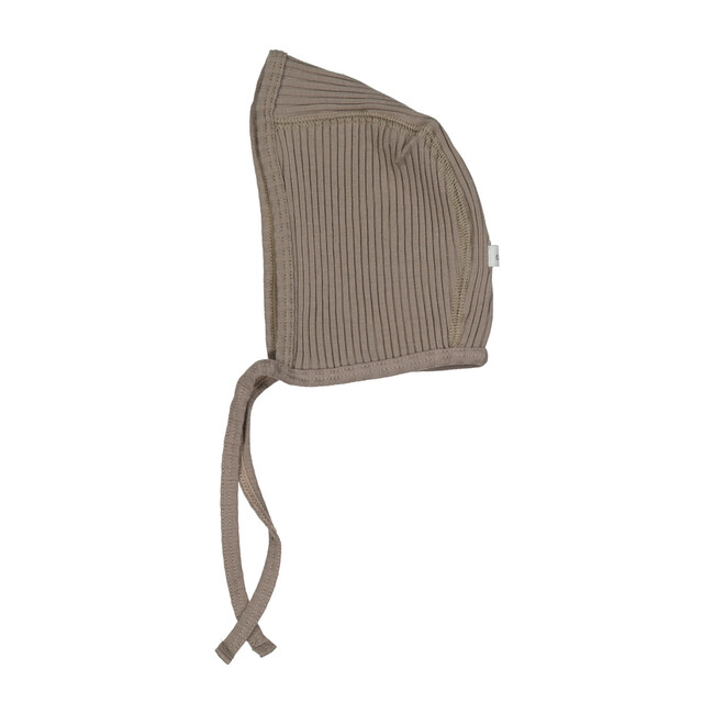Ribbed Bonnet, Taupe